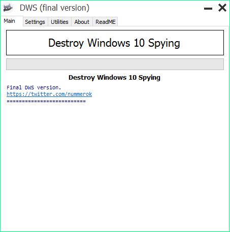 Отключение функций слежения в Windows 10