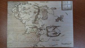 Выжигание. Карта Средиземья.