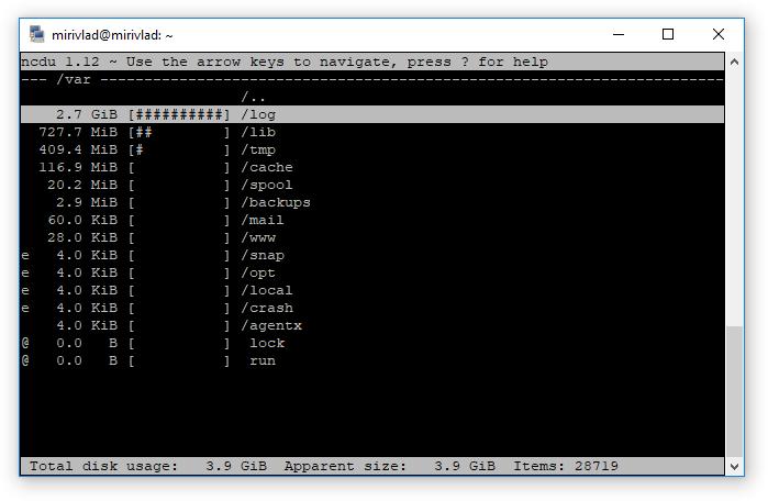 ncdu screenshot2
