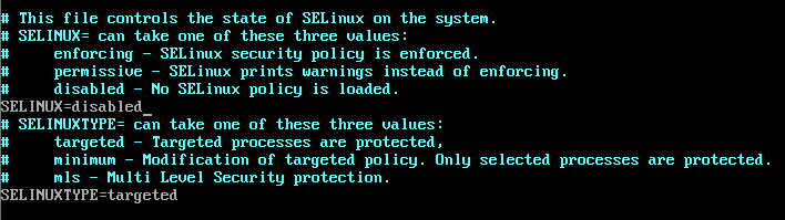 Disable SELinux